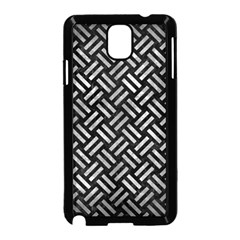 Woven2 Black Marble & Gray Metal 2 Samsung Galaxy Note 3 Neo Hardshell Case (black) by trendistuff
