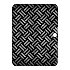 Woven2 Black Marble & Gray Metal 2 Samsung Galaxy Tab 4 (10 1 ) Hardshell Case  by trendistuff