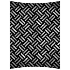 Woven2 Black Marble & Gray Metal 2 Back Support Cushion