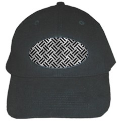 Woven2 Black Marble & Gray Metal 2 (r) Black Cap by trendistuff