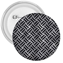 Woven2 Black Marble & Gray Metal 2 (r) 3  Buttons by trendistuff