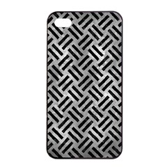 Woven2 Black Marble & Gray Metal 2 (r) Apple Iphone 4/4s Seamless Case (black) by trendistuff