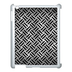 Woven2 Black Marble & Gray Metal 2 (r) Apple Ipad 3/4 Case (white) by trendistuff