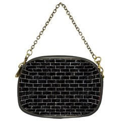 Brick1 Black Marble & Gray Stone Chain Purses (one Side)  by trendistuff