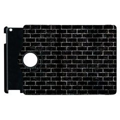 Brick1 Black Marble & Gray Stone Apple Ipad 2 Flip 360 Case by trendistuff