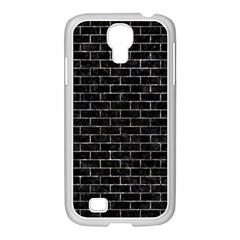 Brick1 Black Marble & Gray Stone Samsung Galaxy S4 I9500/ I9505 Case (white) by trendistuff