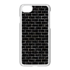 Brick1 Black Marble & Gray Stone Apple Iphone 7 Seamless Case (white) by trendistuff