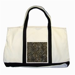 Brick1 Black Marble & Gray Stone (r) Two Tone Tote Bag by trendistuff
