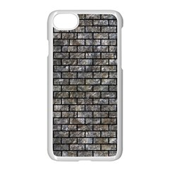 Brick1 Black Marble & Gray Stone (r) Apple Iphone 7 Seamless Case (white) by trendistuff