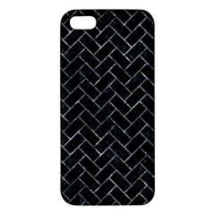 Brick2 Black Marble & Gray Stone Iphone 5s/ Se Premium Hardshell Case by trendistuff
