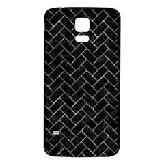 Brick2 Black Marble & Gray Stone Samsung Galaxy S5 Back Case (white) by trendistuff