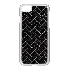 Brick2 Black Marble & Gray Stone Apple Iphone 7 Seamless Case (white) by trendistuff