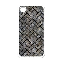 Brick2 Black Marble & Gray Stone (r) Apple Iphone 4 Case (white) by trendistuff