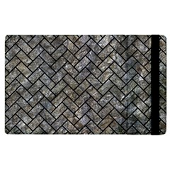 Brick2 Black Marble & Gray Stone (r) Apple Ipad 2 Flip Case by trendistuff