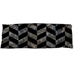 Chevron1 Black Marble & Gray Stone Body Pillow Case Dakimakura (two Sides) by trendistuff