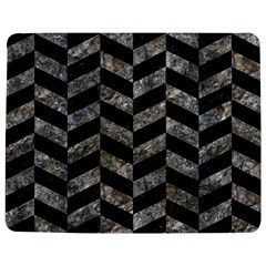 Chevron1 Black Marble & Gray Stone Jigsaw Puzzle Photo Stand (rectangular) by trendistuff