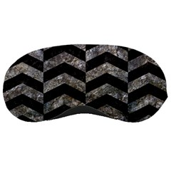 Chevron2 Black Marble & Gray Stone Sleeping Masks by trendistuff