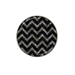 Chevron9 Black Marble & Gray Stone Hat Clip Ball Marker (10 Pack) by trendistuff