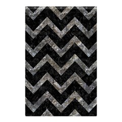 Chevron9 Black Marble & Gray Stone Shower Curtain 48  X 72  (small)  by trendistuff