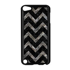 Chevron9 Black Marble & Gray Stone Apple Ipod Touch 5 Case (black) by trendistuff