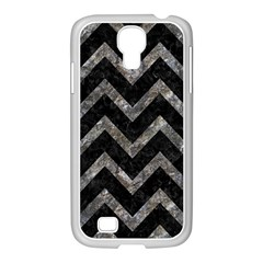 Chevron9 Black Marble & Gray Stone Samsung Galaxy S4 I9500/ I9505 Case (white) by trendistuff
