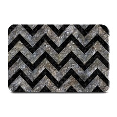 Chevron9 Black Marble & Gray Stone (r) Plate Mats by trendistuff