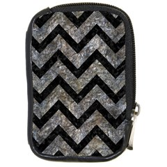 Chevron9 Black Marble & Gray Stone (r) Compact Camera Cases by trendistuff