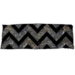 Chevron9 Black Marble & Gray Stone (r) Body Pillow Case Dakimakura (two Sides) by trendistuff