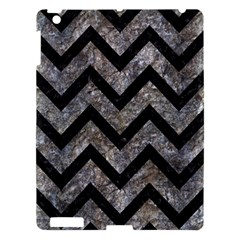 Chevron9 Black Marble & Gray Stone (r) Apple Ipad 3/4 Hardshell Case by trendistuff