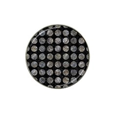 Circles1 Black Marble & Gray Stone Hat Clip Ball Marker by trendistuff