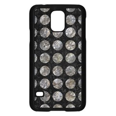 Circles1 Black Marble & Gray Stone Samsung Galaxy S5 Case (black) by trendistuff