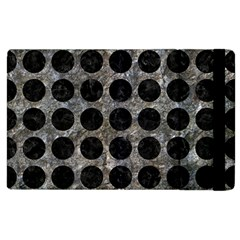 Circles1 Black Marble & Gray Stone (r) Apple Ipad 2 Flip Case by trendistuff