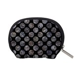 CIRCLES2 BLACK MARBLE & GRAY STONE Accessory Pouches (Small)  Back