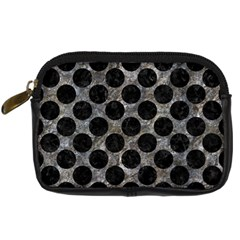 Circles2 Black Marble & Gray Stone (r) Digital Camera Cases by trendistuff