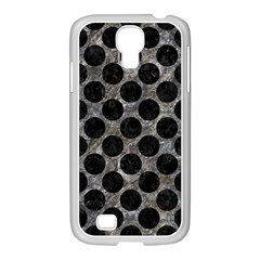 Circles2 Black Marble & Gray Stone (r) Samsung Galaxy S4 I9500/ I9505 Case (white) by trendistuff