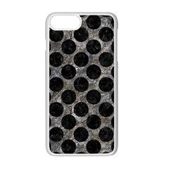 Circles2 Black Marble & Gray Stone (r) Apple Iphone 7 Plus White Seamless Case by trendistuff