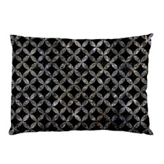 Circles3 Black Marble & Gray Stone Pillow Case by trendistuff