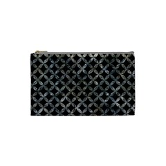 Circles3 Black Marble & Gray Stone Cosmetic Bag (small)  by trendistuff