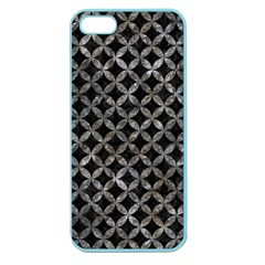 Circles3 Black Marble & Gray Stone Apple Seamless Iphone 5 Case (color) by trendistuff