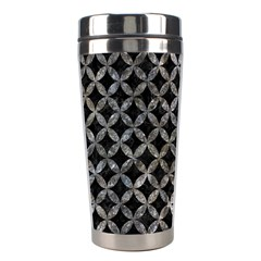 Circles3 Black Marble & Gray Stone Stainless Steel Travel Tumblers by trendistuff