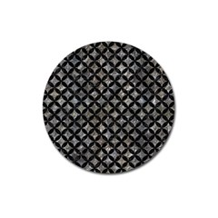 Circles3 Black Marble & Gray Stone (r) Magnet 3  (round) by trendistuff