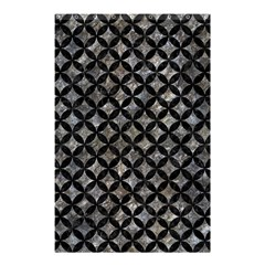Circles3 Black Marble & Gray Stone (r) Shower Curtain 48  X 72  (small)  by trendistuff