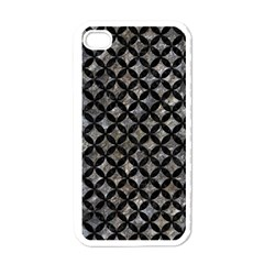 Circles3 Black Marble & Gray Stone (r) Apple Iphone 4 Case (white) by trendistuff