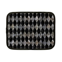 Diamond1 Black Marble & Gray Stone Netbook Case (small)  by trendistuff
