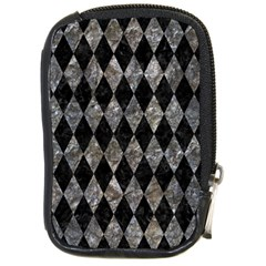 Diamond1 Black Marble & Gray Stone Compact Camera Cases by trendistuff