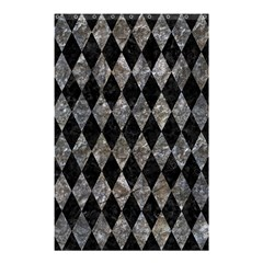 Diamond1 Black Marble & Gray Stone Shower Curtain 48  X 72  (small)  by trendistuff