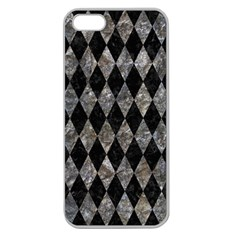Diamond1 Black Marble & Gray Stone Apple Seamless Iphone 5 Case (clear) by trendistuff