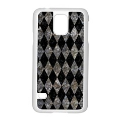 Diamond1 Black Marble & Gray Stone Samsung Galaxy S5 Case (white) by trendistuff