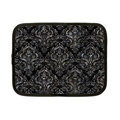 Damask1 Black Marble & Gray Stone Netbook Case (small)  by trendistuff