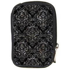 Damask1 Black Marble & Gray Stone Compact Camera Cases by trendistuff